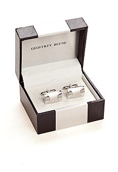Geoffrey Beene Stainless Steel Cuff Links