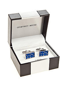 Geoffrey Beene Tonal Blue Cuff Links