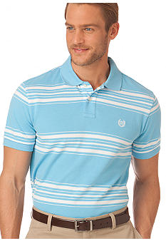 Chaps Everett Custom Fit Striped Polo