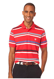 Chaps Big & Tall Rose Hall Stripe Polo
