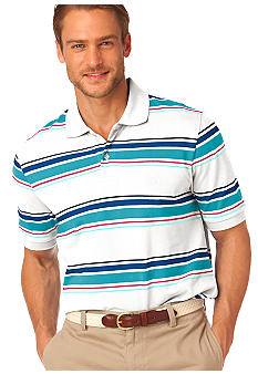 Chaps Big and Tall Island Stripe Polo