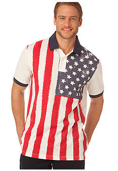 Chaps American Flag Graphic Polo