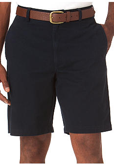 Chaps Solid Basic Flat Front Shorts