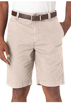 Chaps Big & Tall Garment Dyed Flat Front Shorts