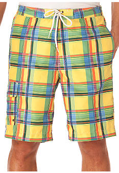 Chaps Printed Plaid Boardshorts