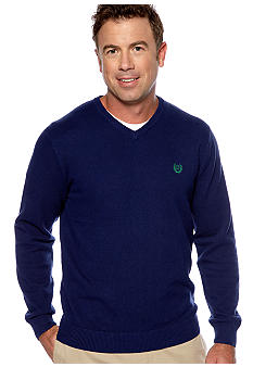 Chaps V-Neck Pique Sweater