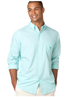 Chaps Long Sleeve End on End Solid Shirt