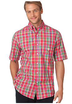 Chaps Big & Tall Sapelo Plaid Shirt