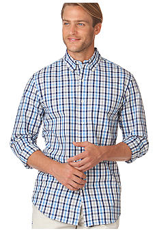 Chaps Fashion Ocean Wind Plaid Shirt