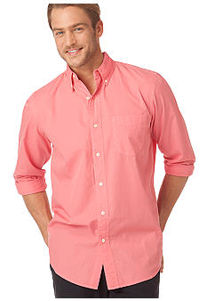 Chaps Big & Tall Montego Solid Garment Dye Shirt