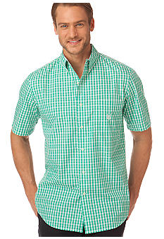 Chaps Big & Tall Summer Moon Gingham Shirt