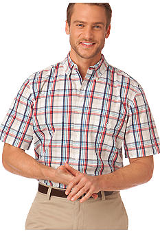 Chaps Seersucker Portland Point Plaid Shirt