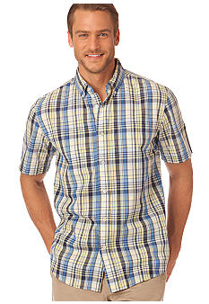 Chaps Sundrenched Copperwood Plaid Shirt