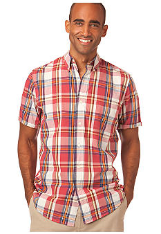 Chaps Sundrenched Silver Sands Plaid Shirt