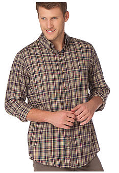 Chaps Big & Tall Mercantile Plaid Twill Shirt