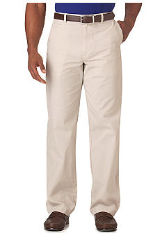 Chaps Straight Fit Garment Dyed Flat Front Pants