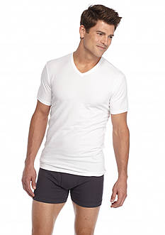 Calvin Klein Cotton Stretch V-Neck Tee - 2 Pack