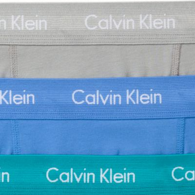 Men: Boxer Briefs Sale: Blue/Teal/Gray Calvin Klein Cotton Stretch Boxer Briefs - 3 Pack
