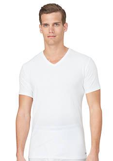 Calvin Klein 2-Pack Cotton Stretch Short Sleeve V-Neck Tee Shirts