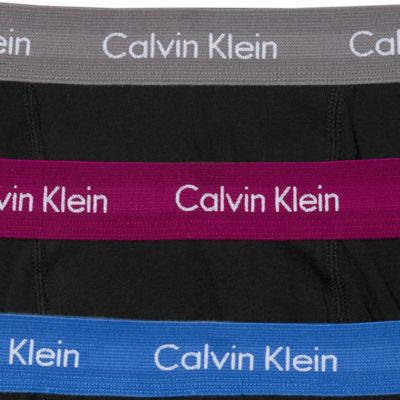 Men: Boxer Briefs Sale: Black/Gray/Maroon/Blue Calvin Klein Classic Boxer Briefs - 3 Pack