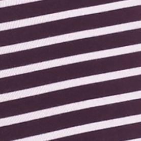 Young Men: Calvin Klein Underwear: Dark Violet/White Stripe Calvin Klein Steel Micro Low Rise Trunks