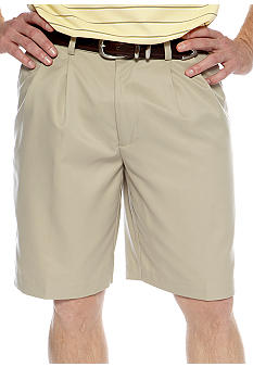 Izod Golf Microfiber Pleated Shorts