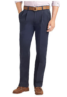 Izod No Iron Classic Fit Pleated Pants