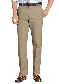 Izod Straight-Fit American Chino Flat-Front Wrinkle-Free Pants