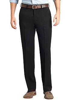 IZOD Straight-Fit Travel Flat-Front Wrinkle-Free Dress Pants