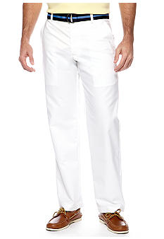 Izod Straight Fit Belted Oxford Pants