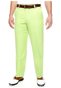 Izod Golf Flat Front Basic Micro Pants