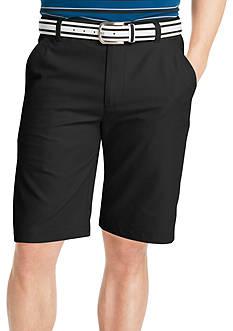 IZOD Golf Flat Front Microfiber Shorts