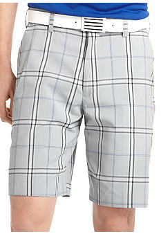 Izod Golf Flat Front Fancy Plaid Short