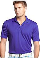 Izod Golf Short Sleeve Fashion Grid Polo