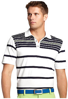 Izod Golf Short Sleeve Stripe Polo