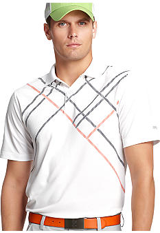 Izod Golf Geometric Stripe Polo