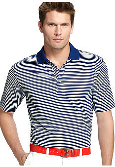 Izod Golf Short Sleeve Feeder Stripe Polo