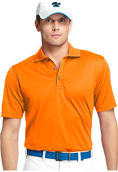 Izod Golf Fashion Solid Grid Polo