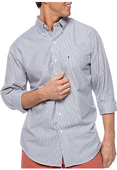Izod Button Down Stripe Woven Shirt