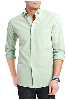 Izod Button Down Check Woven Shirt
