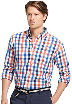 Izod Windowpane Woven Shirt