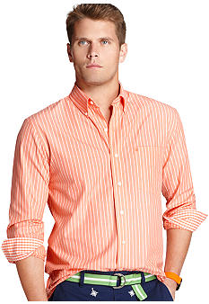 Izod Stripe 1-Pocket Essential Woven Shirt