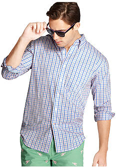 Izod Megaplaid Saltwater Poplin Shirt