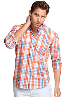Izod Long Sleeve Button Down Plaid