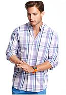 Izod Long Sleeve Button Down Plaid Shirt