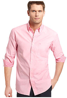 Izod Long Sleeve End on End Fashion Shirt