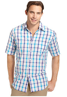 Izod Leno Textured Plaid Shirt