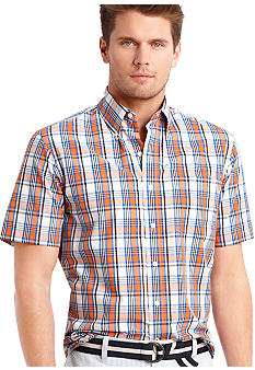 Izod Saltwater Poplin Plaid Shirt