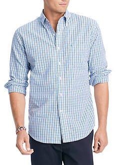 IZOD Button-Down Tattersal Shirt