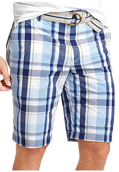 Izod Plaid Poplin Shorts